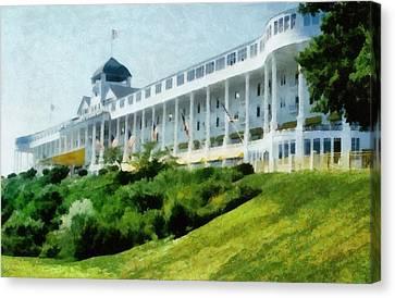 Grand Hotel Mackinac Island Ll Canvas Print by Michelle Calkins