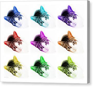 Grand Kitty Cuteness 3 Pop Art 9 Canvas Print by Andee Design