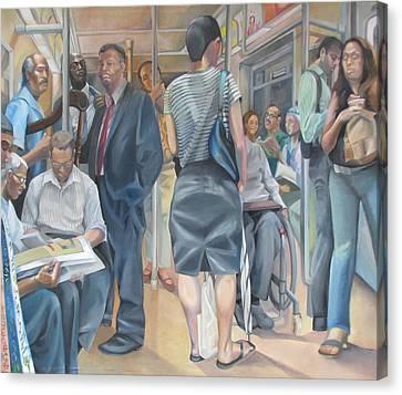 Grand Manner Subway No2 Canvas Print by Julie Orsini Shakher