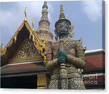 Grand Palace Thailand Canvas Print by Ted Williams