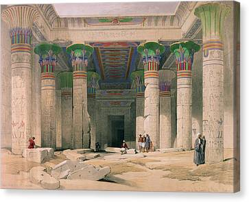 Grand Portico Of The Temple Of Philae, Nubia, From Egypt And Nubia, Engraved By Louis Haghe 1806-85 Canvas Print by David Roberts