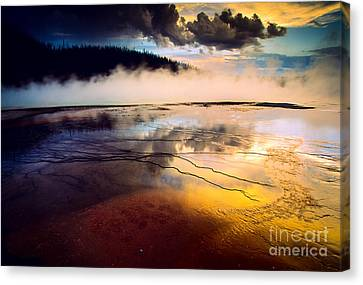 Grand Prismatic Spring Canvas Print by Inge Johnsson