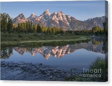 Grand Teton Awakening Canvas Print by Sandra Bronstein