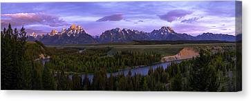Grand Tetons Canvas Print by Chad Dutson