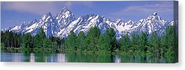 Grand Tetons National Park Wy Canvas Print by Panoramic Images