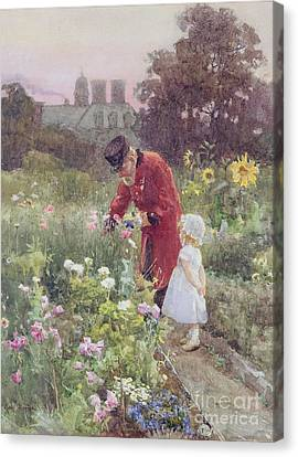 Grandads Garden Canvas Print by Rose Maynard Barton