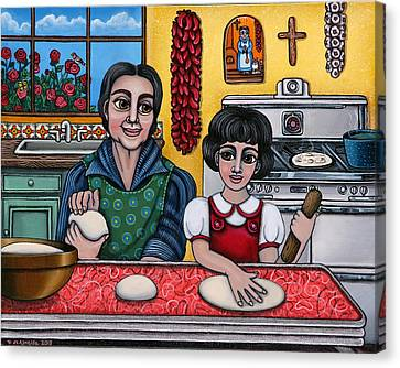 Grandma Kate Canvas Print by Victoria De Almeida