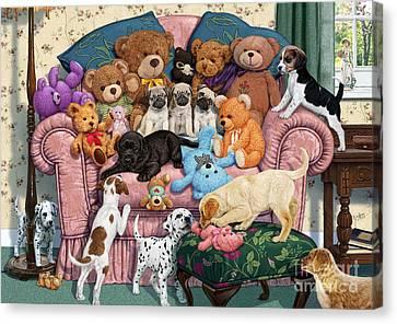 Grandma's Armchair Canvas Print by Steve Read