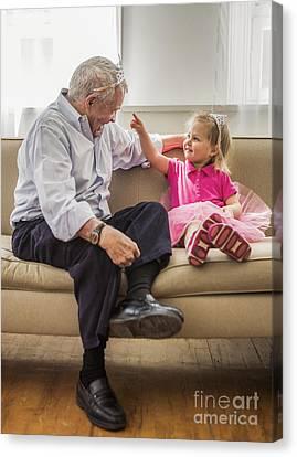 Grandpa's Little Princess Canvas Print by Diane Diederich
