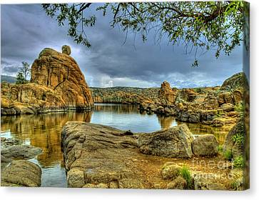 Watson Lake Prescott Arizona Canvas Print by K D Graves
