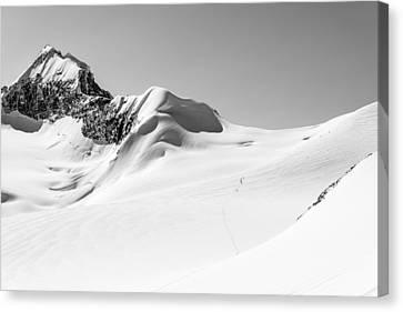 Granite Glacier Canvas Print by Ian Stotesbury