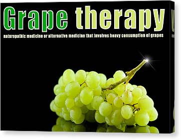 Grape Therapy Canvas Print by Toppart Sweden