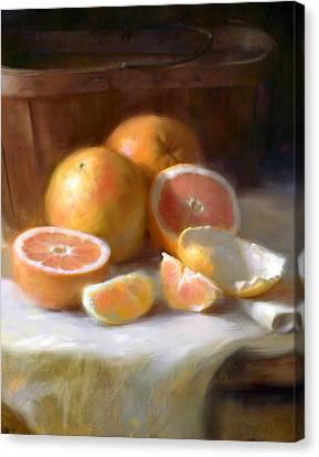 Grapefruit Canvas Print by Robert Papp