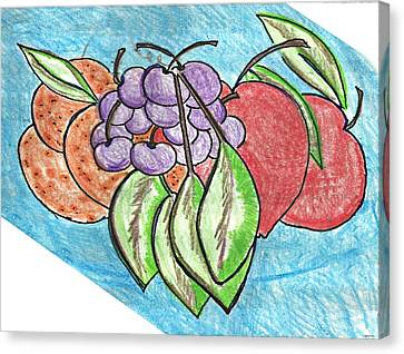 Grapes Canvas Print by Becky Sterling
