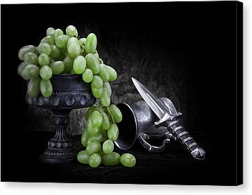 Grapes Of Wrath Still Life Canvas Print by Tom Mc Nemar
