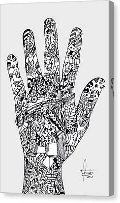 Graphic Hand Canvas Print by Yomutan Simoes