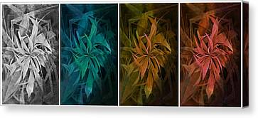 Elements Of Nature - Air Water Earth Fire Canvas Print by Marianna Mills