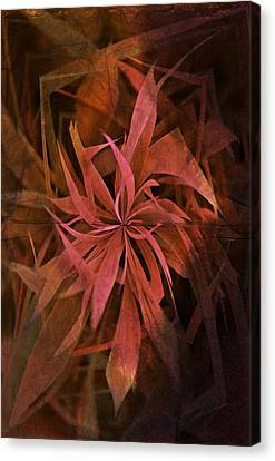 Grass Abstract - Fire Canvas Print by Marianna Mills