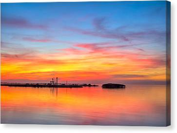Grass Islands Of The Gulf Canvas Print by Marvin Spates