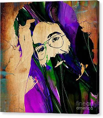 Grateful Dead Jerry Garcia Canvas Print by Marvin Blaine