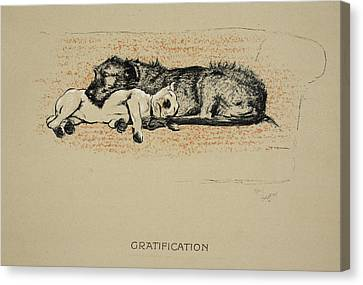 Gratification, 1930, 1st Edition Canvas Print by Cecil Charles Windsor Aldin