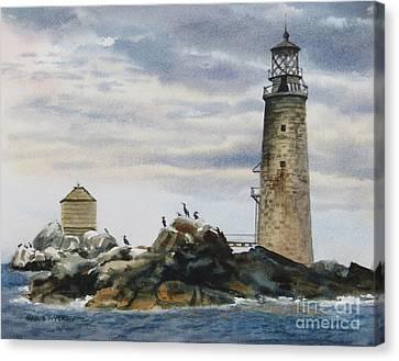 Graves Light House Canvas Print by Karol Wyckoff