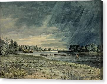 Grays Ferry Circa 1858 Canvas Print by Aged Pixel