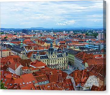 Graz Old Town Canvas Print by Mariola Bitner