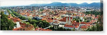 Graz Panorama Canvas Print by Mariola Bitner