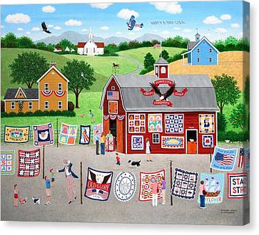 Great American Quilt Factory Canvas Print by Wilfrido Limvalencia