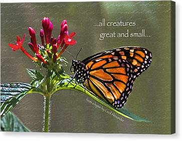 Great And Small Canvas Print by Karen Stephenson