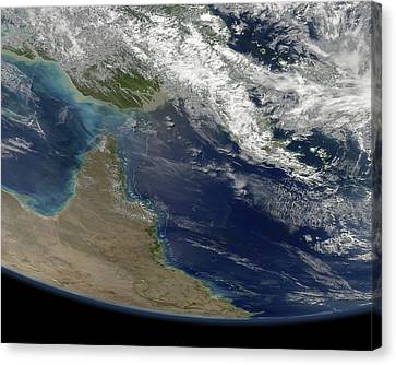 Great Barrier Reef, Satellite Image Canvas Print by Science Photo Library