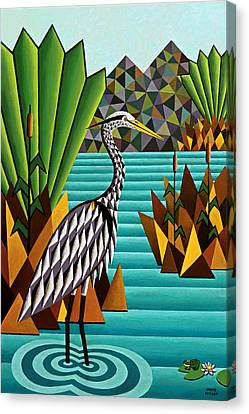 Great Blue Heron Canvas Print by Bruce Bodden