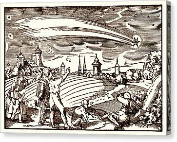 Great Comet Of 1577 Canvas Print by Detlev Van Ravenswaay