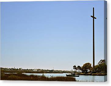 Great Cross - Nombre De Dios - St Augustine Canvas Print by Christine Till