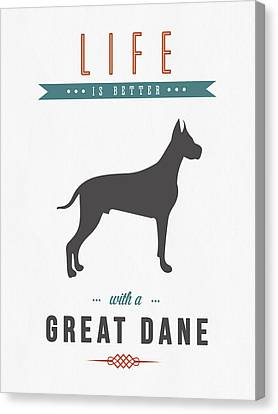 Great Dane 01 Canvas Print by Aged Pixel
