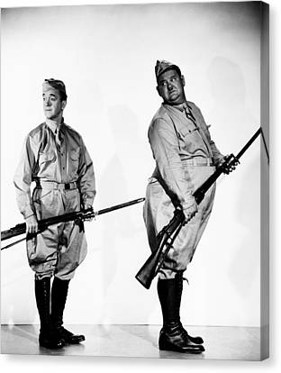 Great Guns, From Left Stan Laurel Canvas Print by Everett