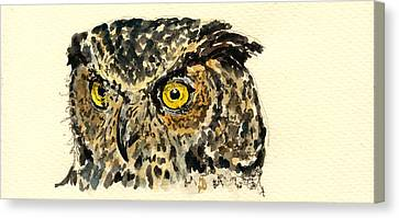 Great Horned Owl Canvas Print by Juan  Bosco