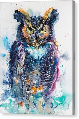 Great Horned Owl Canvas Print by Kovacs Anna Brigitta