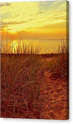 Great Lake Great Sunset 2 Canvas Print by Michelle Calkins