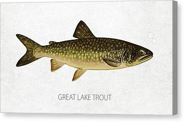 Great Lake Trout Canvas Print by Aged Pixel