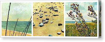 Great Lakes Triptych Canvas Print by Michelle Calkins