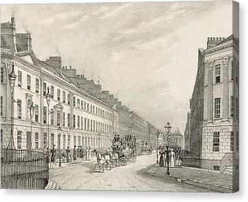 Great Pultney Street, Bath, C.1883 Canvas Print by R. Woodroffe
