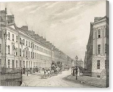 Great Pultney Street, Bath, C.1883 Canvas Print by R. Woodroffe