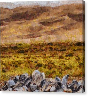Great Sand Dunes National Park On Canvas Canvas Print by Dan Sproul