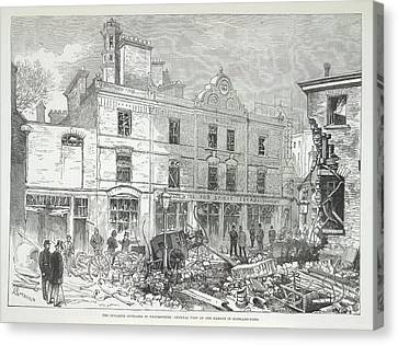 Great Scotland Yard Explosion Canvas Print by British Library