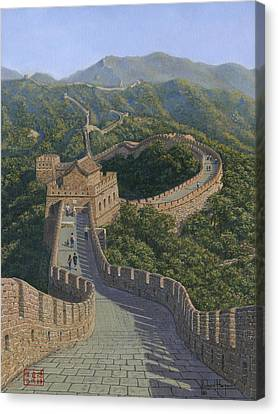 Great Wall Of China Mutianyu Section Canvas Print by Richard Harpum
