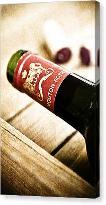 Great Wines Of Bordeaux - Chateau Mouton Rothschild Canvas Print by Frank Tschakert