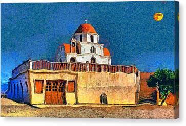 Greek Church 7 Canvas Print by George Rossidis