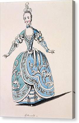 Greek Costume For The Chorus Canvas Print by French School